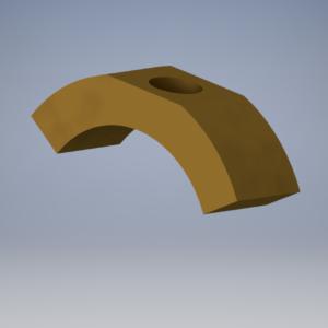 000039 - Gear shifter shoe - brass for LeBlond 4025NK